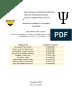 """Proyecto de Investigación """"Actitud de Los Adolescentes Del Instituto Secretariado Honduras Hacia El Aborto en Tegucigalpa en El 2014"""""""