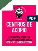 #CentrosDeAcopio lista extendida #SismoCDMX 15hr 21s