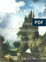 W.popp Kleines Fluetenkonzert Op. 438