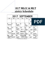 FALL 2017 MLCC Ministry Schedule