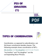 Types of Coordination 1