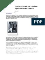 Argentina Consideró Invadir Las Malvinas Durante La Segunda Guerra Mundial
