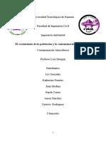Crecimiento Poblacional Y Contaminación Atmosférica