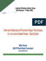 03 LVSR Wshop Kenya Feb06 MatrPvmentDesign MPinard