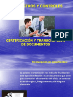 certificacion y transcripcion de documentos administrativos educativos