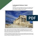 Arsitektur Bangunan Bersejarah Parthenon
