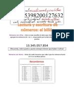 LEctura y escritura de números hasta el billón