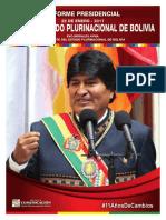 Informe Presidencial Bolivia 2017