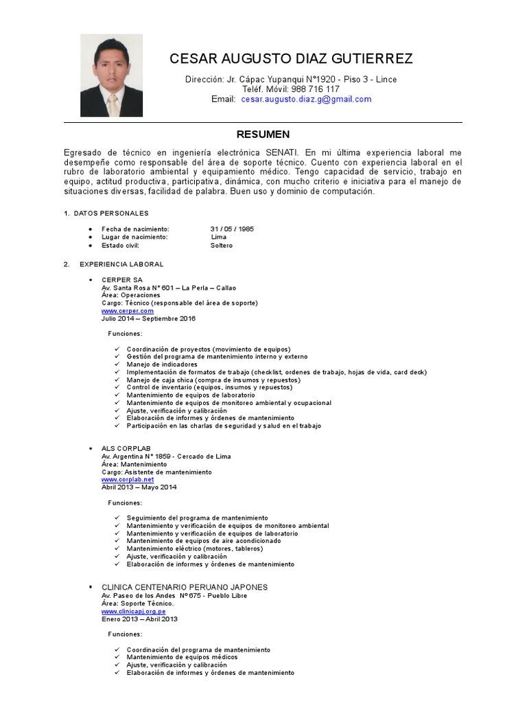 Excepcional Es Formato De Currículum De Soporte Técnico Bandera ...