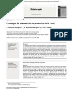 Estrategias de Intervención en Promoción de La Salud Review Article