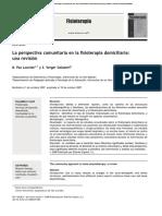 La Perspectiva Comunitaria en La Fisioterapia Domiciliaria Una Revisión Review Article