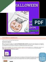 French Halloween Mini Book Halloween