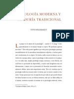 Burckhardt Psicologia Moderna y Sabiduria Tradicional