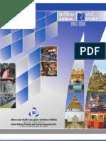 IRCTC Annual Report-2007-08 English