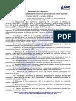 Portaria 256-2013 - INEP pagamento do Auxílio de Avaliação Educacional - AAE