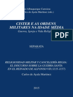 Religiosidad Militar y Cancilleria Regia
