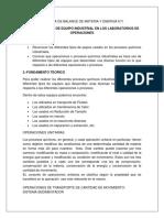 RECONOCIMIENTO DE EQUIPO INDUSTRIAL EN LOS LABORATORIOS DE OPERACIONES