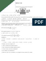 Exercicios de Avaliação de Matemática 7º Ano