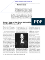 Mooers' Law or Why Some Retrieval Systems Are Used and Others Are Not