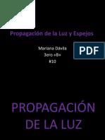 Propagación de La Luz y Espejos 4.4