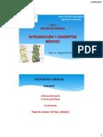 Clase 1 INTRODUCCIÓN Gestion de Cuencas