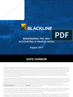 BlackLine Investor Presentation - August 2017