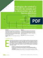Estrategias de control y estimación de estado por modos deslizantes para un horno eléctrico