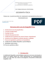 8. Clasificacion de Unidades Geomorfologicas y Fisiograficas