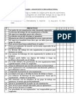 Cuestionario de Diagnostico Organizacional