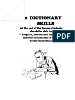 Dictionary and Reading Skills (Asnwer Scheme)