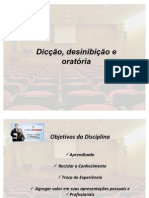 Apresentação da Aula 1 do Professor Janer Costa - Dicção, Desinibição e Oratória