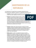 Derecho Romano Magistraturas