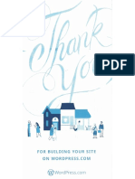 WordPress.com Direct Mailing Thank You Card