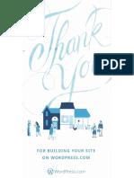 WordPress.com Direct Mailing Thank You Card
