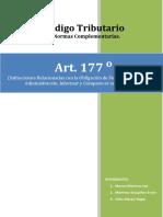 CODIGO TRIBUTARIO ARTICULO 177°