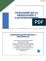 Evolucion de Las Operaciones, Sistema de Operaciones (1)