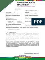 Unidad Aprendizaje Matematicas Financieras 2017-2