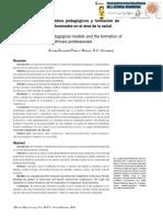 Act. 2.2. Modelos Pedagógicos y Formación de Profesionales