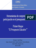 Herramientas de Comprension Participacion Presupuesto Educativo1 Cippec2006
