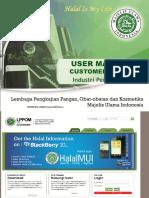 1.1 USER MANUAL Customer Industri Pengolahan 2017 Rev.01