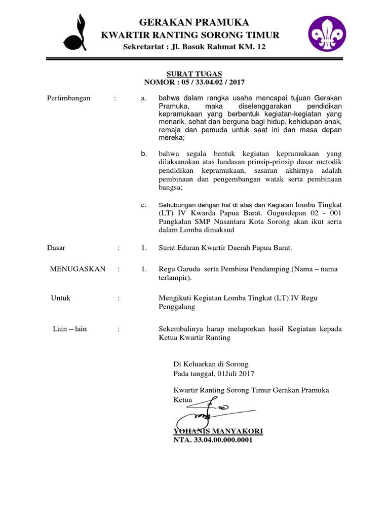 Surat Tugas Ranting Sorong Timurdocx