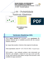 EstatisticaAplicada-Aula06 Probabilidade VA