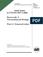 Cyprus National Annex en 1997-1 - New Edition