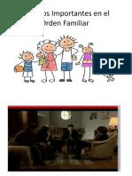 Aspectos Importantes en El Orden Familiar