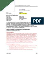 UT Dallas Syllabus for comm3311.001.10f taught by Kathy Lingo (klingo)