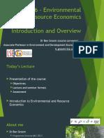 Environmental and Resource Economics Intro