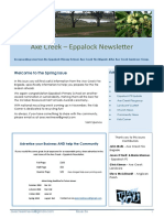 Axe Creek - Eppalock News Issue 56