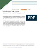 A Sublimation Heat Engine