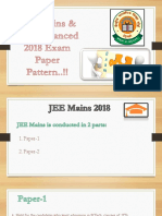 JEE (Mains + Advanced) Paper Pattern 2018