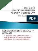 3ra Clase Condicionamiento Clasico y Operante